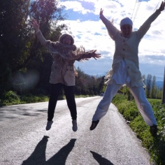 On the way to yoga, Chile