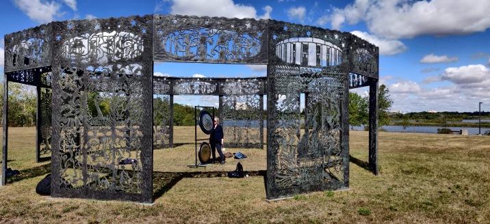 Gong Bliss in Mind's Garden, Regina, Canada - Joe Fafard sculpture